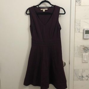 DVF black and maroon fit and flare dress